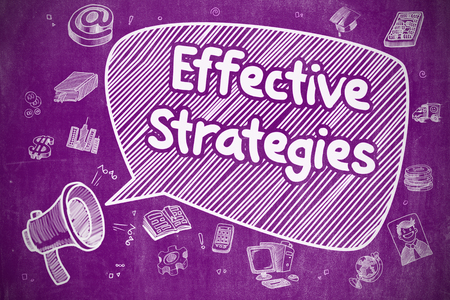 Effective Strategies - Business Concept on Speech Bubble.