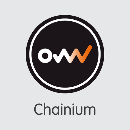Icon Chainium CHX Crypto Currency - Vector Illustration. 向量圖像