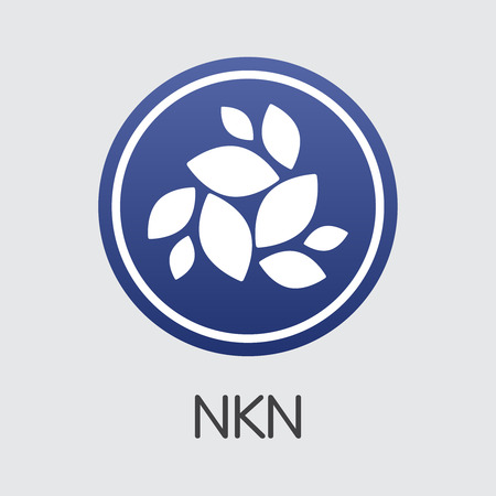 Nkn Cryptocurrency Coin. Vector Symbol of NKN.