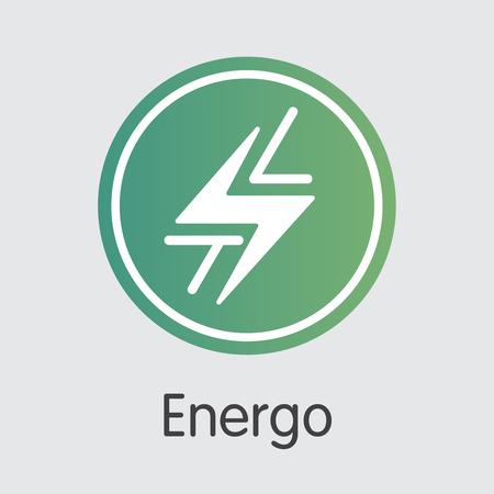 Energo Digital Currency. Vector TSL Pictogram Symbol.