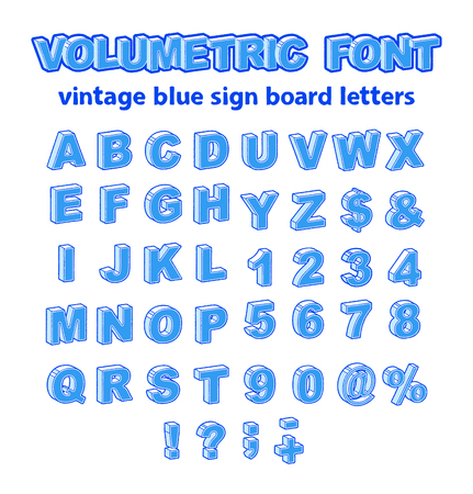 Isometric or Volumetric Vintage Alphabet Font. 3d Effect Letters, Numbers and Symbols in Different Sets. Vector Typeface for Any Typography Design.