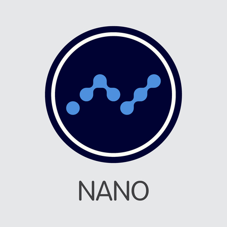 NANO - Nano. The Crypto Coins or Cryptocurrency Logo. Market Emblem, Coins ICOs and Tokens. Ilustração