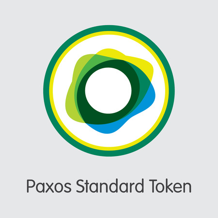 PAX - Paxos Standard Token. The Crypto Coins or Cryptocurrency Logo. Market Emblem, Coins ICOs and Tokens. Banco de Imagens - 126818461
