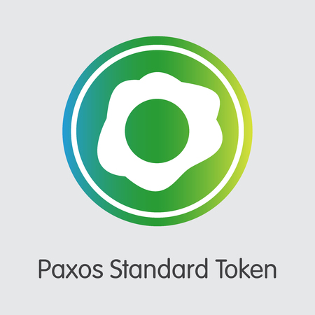 PAX - Paxos Standard Token. The Crypto Coins or Cryptocurrency Logo. Market Emblem, Coins ICOs and Tokens.