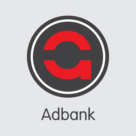 ADB - Adbank. The Crypto Coins or Cryptocurrency Logo. Market Emblem, Coins ICOs and Tokens. Ilustração