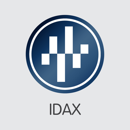 Exchange - Idax. The Crypto Coins or Cryptocurrency Logo. Market Emblem, Coins ICOs and Tokens Icon.