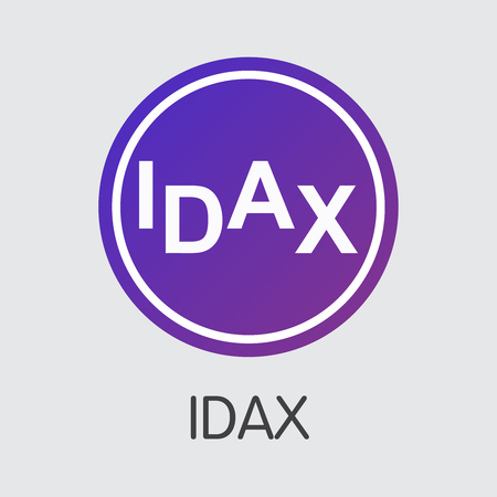 Exchange - Idax. The Crypto Coins or Cryptocurrency Logo. Market Emblem, Coins ICOs and Tokens Icon. Banco de Imagens - 126807548