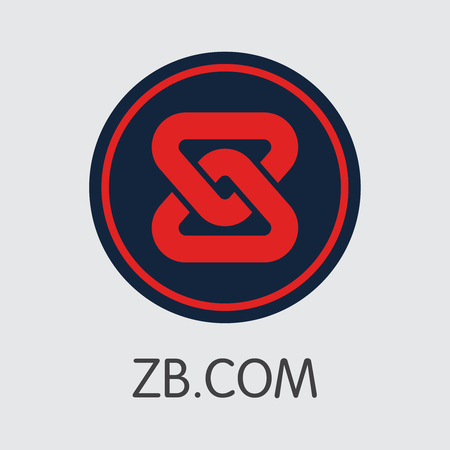 Exchange - Zbcom. The Crypto Coins or Cryptocurrency Logo. Market Emblem, Coins ICOs and Tokens Icon. Ilustração