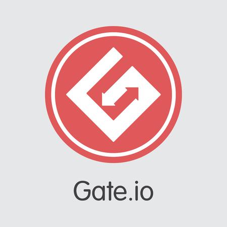 Exchange - Gateio Copy. The Crypto Coins or Cryptocurrency Logo. Market Emblem, Coins ICOs and Tokens Icon. Banco de Imagens - 126765012