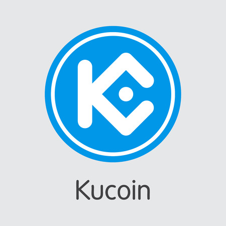 Exchange - Kucoin Copy. The Crypto Coins or Cryptocurrency Logo. Market Emblem, Coins ICOs and Tokens Icon. Ilustração