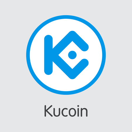 Exchange - Kucoin. The Crypto Coins or Cryptocurrency Logo. Market Emblem, Coins ICOs and Tokens Icon. Banco de Imagens - 126765016