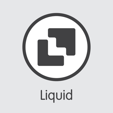 Exchange - Liquid. The Crypto Coins or Cryptocurrency Logo. Market Emblem, Coins ICOs and Tokens Icon. Banco de Imagens - 126765017