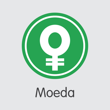 MDA - Moeda Copy. The Crypto Coins or Cryptocurrency Logo. Market Emblem, Coins ICOs and Tokens Icon.