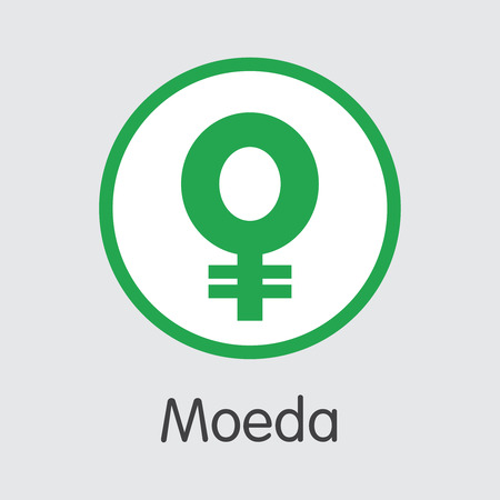 MDA - Moeda. The Crypto Coins or Cryptocurrency Logo. Market Emblem, Coins ICOs and Tokens Icon.