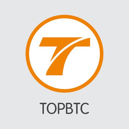 Exchange - Topbtc Copy. The Crypto Coins or Cryptocurrency Logo. Market Emblem, Coins ICOs and Tokens Icon.