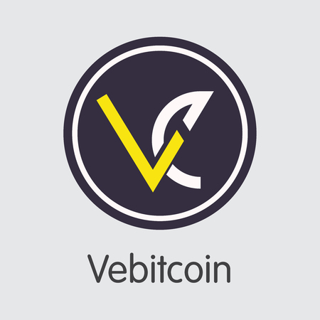 Exchange - Vebitcoin. The Crypto Coins or Cryptocurrency Logo. Market Emblem, Coins ICOs and Tokens Icon. Banco de Imagens - 126765023