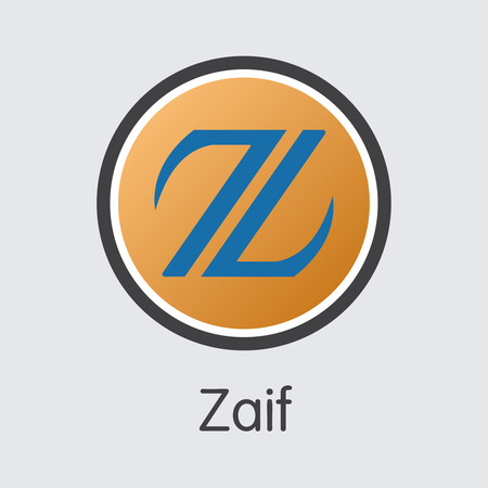 ZAIF - Zaif. The Crypto Coins or Cryptocurrency Logo. Market Emblem, Coins ICOs and Tokens Icon.