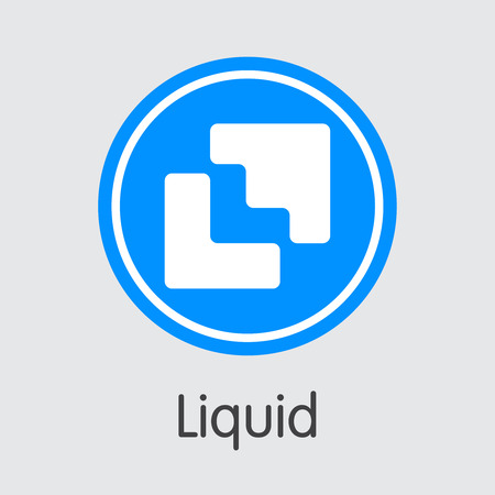 Exchange - Liquid Copy. The Crypto Coins or Cryptocurrency Logo. Market Emblem, Coins ICOs and Tokens Icon. Banco de Imagens - 126765026