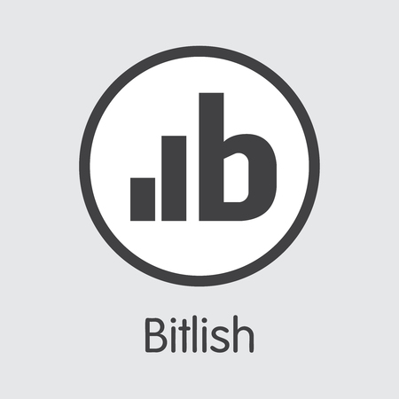 Exchange - Bitlish Copy. The Crypto Coins or Cryptocurrency Logo. Market Emblem, Coins ICOs and Tokens Icon. Banco de Imagens - 126739122