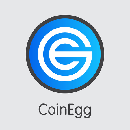Exchange - Coinegg Copy. The Crypto Coins or Cryptocurrency Logo. Market Emblem, Coins ICOs and Tokens Icon.
