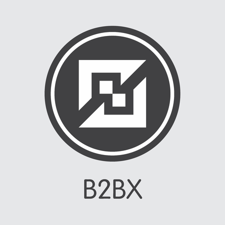 Exchange - B2bx. The Crypto Coins or Cryptocurrency Logo. Market Emblem, Coins ICOs and Tokens Icon. Ilustração