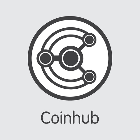 Exchange - Coinhub Copy. The Crypto Coins or Cryptocurrency Logo. Market Emblem, Coins ICOs and Tokens Icon. Banco de Imagens - 126739129