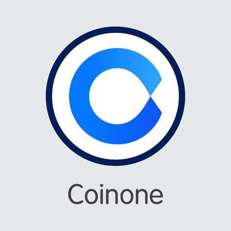 Exchange - Coinone Copy. The Crypto Coins or Cryptocurrency Logo. Market Emblem, Coins ICOs and Tokens Icon. Banco de Imagens - 126739131