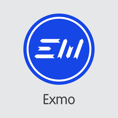 Exchange - Exmo. The Crypto Coins or Cryptocurrency Logo. Market Emblem, Coins ICOs and Tokens Icon. Banco de Imagens - 126739133