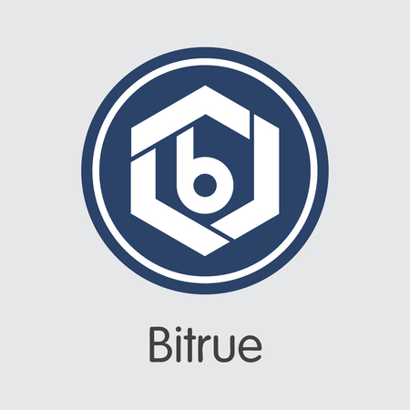 Exchange - Bitrue Copy 2. The Crypto Coins or Cryptocurrency Logo. Market Emblem, Coins ICOs and Tokens Icon.