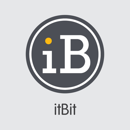 Exchange - Itbit Copy. The Crypto Coins or Cryptocurrency Logo. Market Emblem, Coins ICOs and Tokens Icon. Ilustração