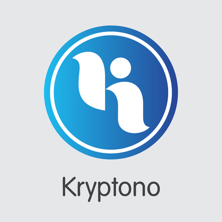 Exchange - Kryptono Copy. The Crypto Coins or Cryptocurrency Logo. Market Emblem, Coins ICOs and Tokens Icon. Banco de Imagens - 126685091