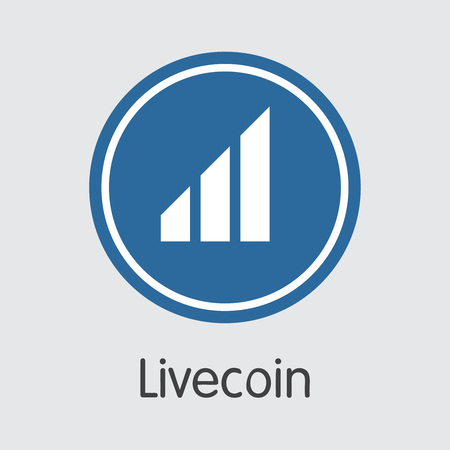 Exchange - Livecoin. The Crypto Coins or Cryptocurrency Logo. Market Emblem, Coins ICOs and Tokens Icon. Banco de Imagens - 126685096