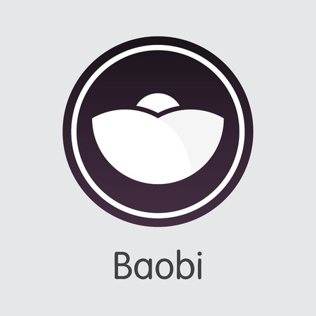 Exchange - Baobi Copy. The Crypto Coins or Cryptocurrency Logo. Market Emblem, Coins ICOs and Tokens Icon.