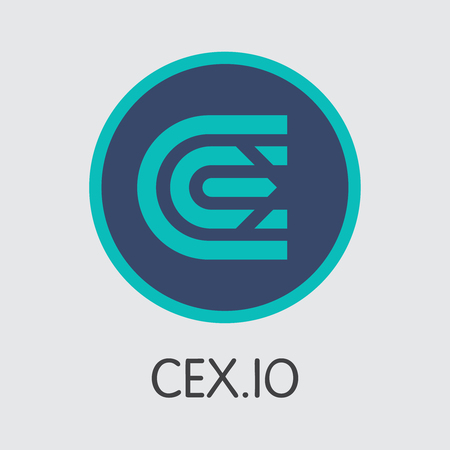 Exchange - Cex. The Crypto Coins or Cryptocurrency Logo. Market Emblem, Coins ICOs and Tokens Icon.