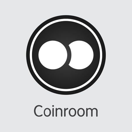 Exchange - Coinroom Copy. The Crypto Coins or Cryptocurrency Logo. Market Emblem, Coins ICOs and Tokens Icon.