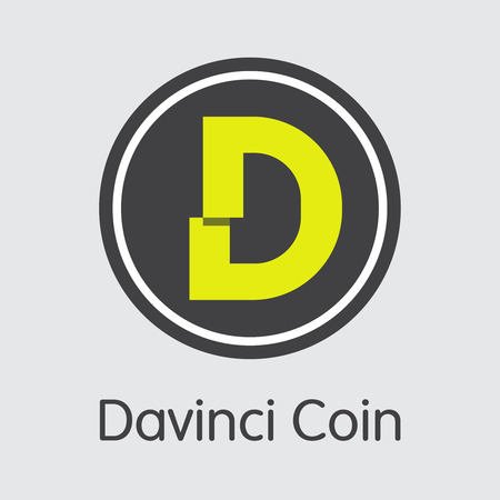 DAC - Davinci Coin. The Icon of Coin or Market Emblem. Illustration