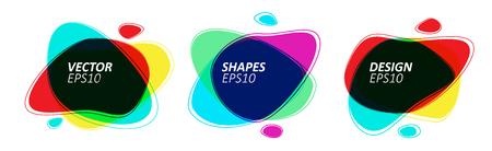 Color Multiply Trendy Bubble Badges Set in Minimal Design. Eps10 Vector Illustration.