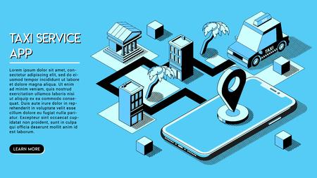 Online Shopping Concept. Smartphone with Online Store on Website or Mobile Application. Vector Isometric Concept of Marketing or Digital Marketing. Ilustração