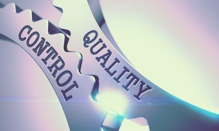Quality Control - Mechanism of Metallic Cogwheels . 3D . Stock fotó