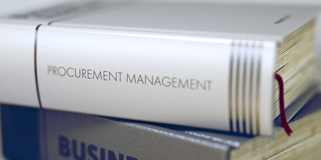 Book Title of Procurement Management. 3D Rendering.