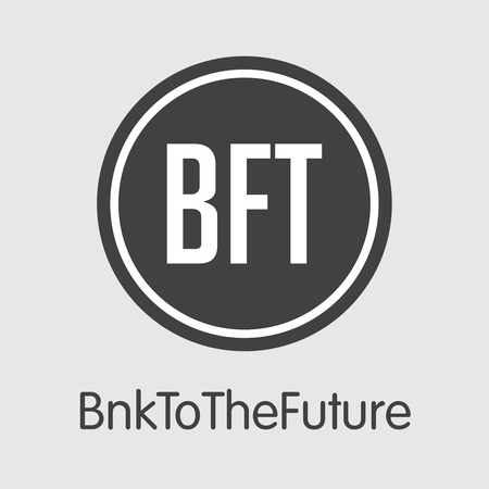 BFT - Bnktothefuture. The Logo of Coin or Market Emblem.