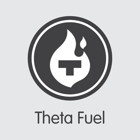 TFUEL - Theta Fuel. The Trade Logo of Coin or Market Emblem.