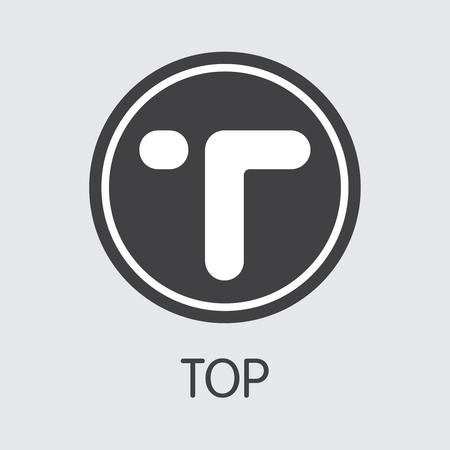 TOP - Top. The Icon of Cryptocurrency or Market Emblem. Ilustração