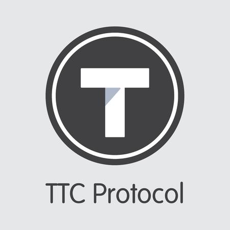 TTC - Ttc Protocol. The Logo of Money or Market Emblem.