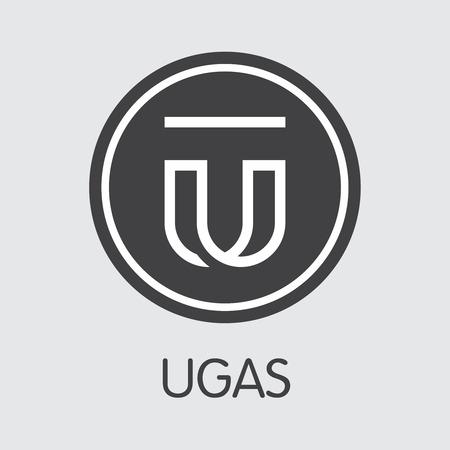 UGAS - Ugas. The Trade Logo of Money or Market Emblem. Ilustração