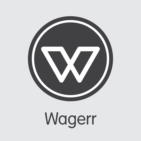 WGR - Wagerr. The Icon of Coin or Market Emblem.