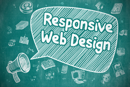 Responsive Web Design - Business Concept on Speech Bubble. Stock Photo