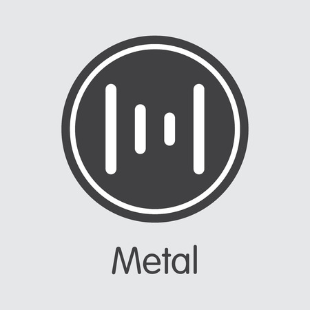 MTL - Metal. The Icon of Money or Market Emblem.