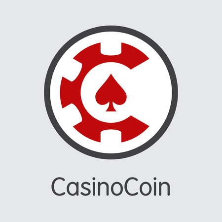 CSC - Casinocoin. The Logo of Coin or Market Emblem. Ilustração