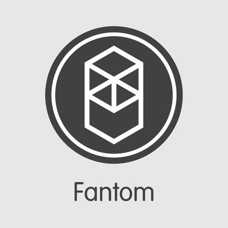 FTM - Fantom. The Icon of Crypto Coins or Market Emblem. Ilustração
